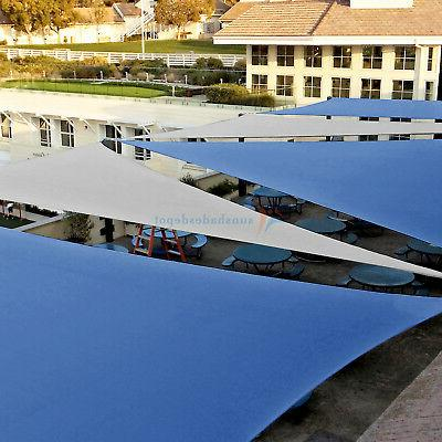 Blue Permeable Equilateral Triangle Lawn Pool