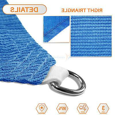 Blue Sun Sail Permeable Equilateral Lawn Patio