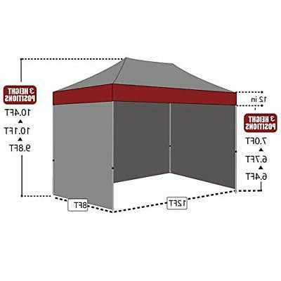 Eurmax 8x12 Ez Pop up 4 Canopy Instant Outdoor Party Shade Si