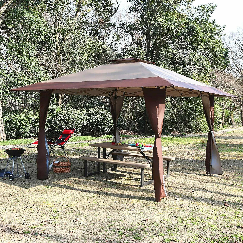 Gazebo Awning Canopy Garden 13x13ft