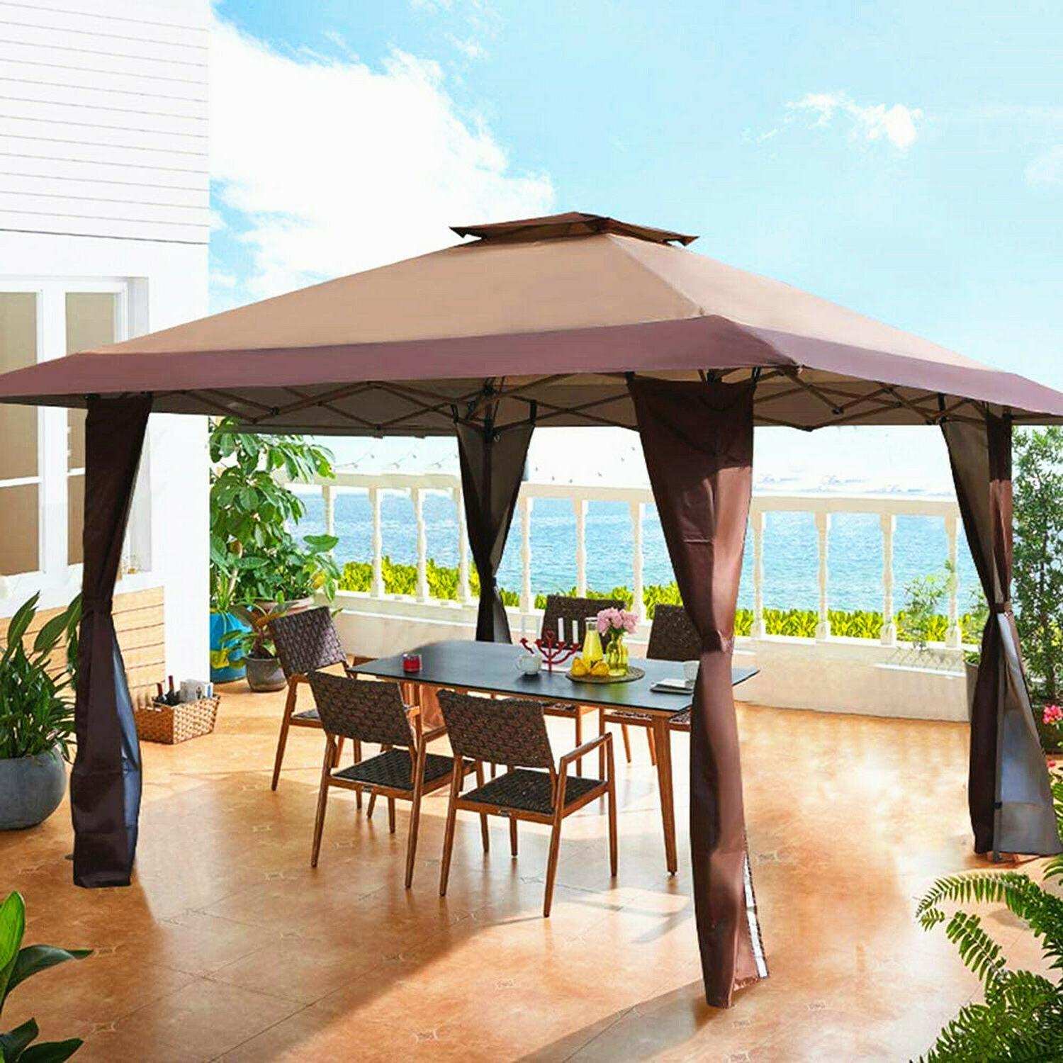 gazebo awning pop up outdoor canopy tent