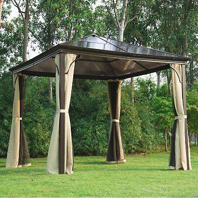 gazebo canopy patio hard roof