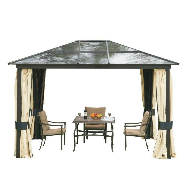 gazebo pergola patio outdoor pavilion hardtop shelter