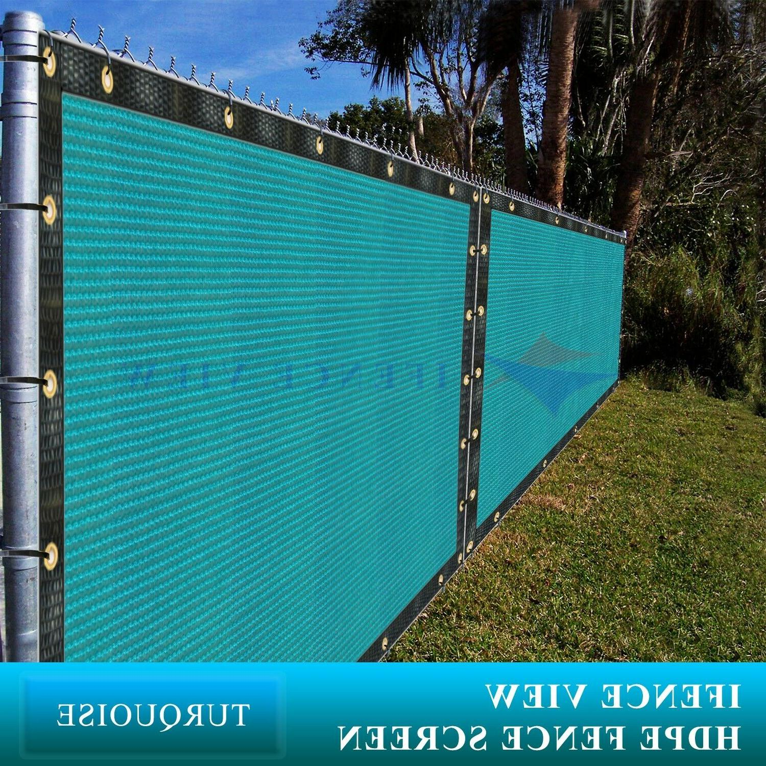 ifenceview 9 ft turquoise patio top awning