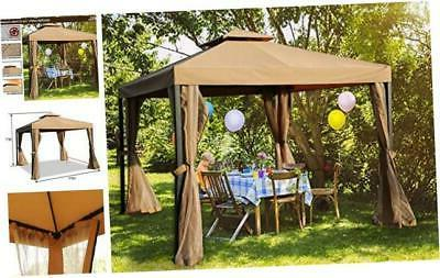 mastercanopy outdoor patio gazebo waterproof soft top