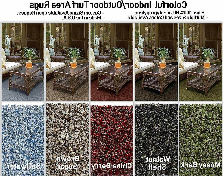 multi colored indoor outdoor turf area rugs