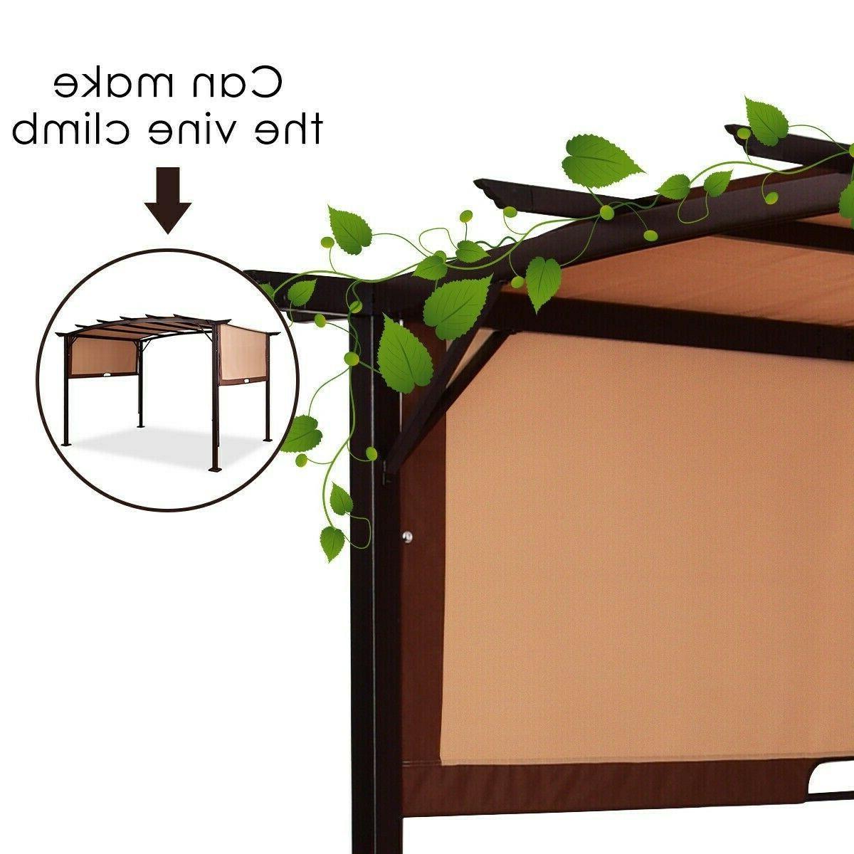 Pergola Kit Metal Outdoor Garden Canopy