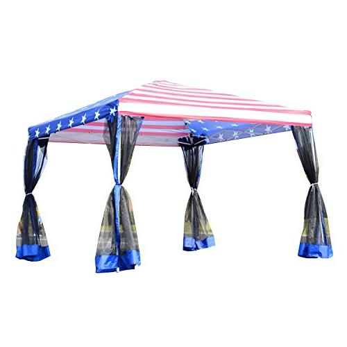 Outsunny Pop-Up Canopy Shelter Tent w/ - American