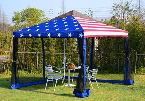 Outsunny x 10' Pop-Up Shelter Tent Mesh -