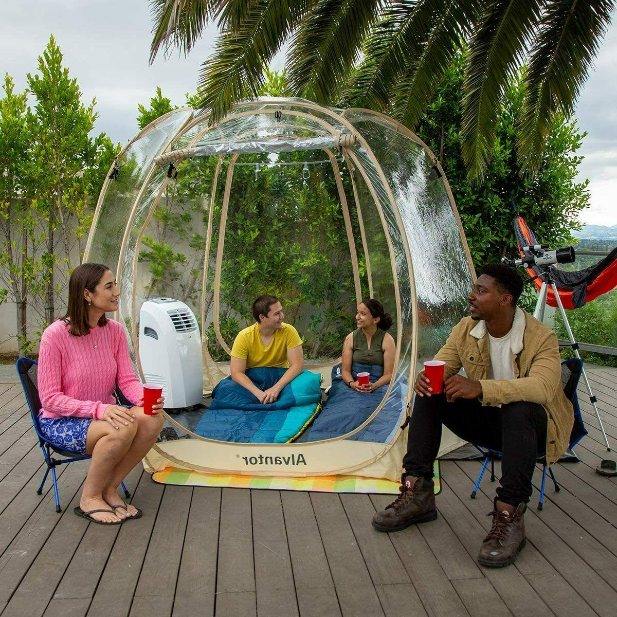 Pop Portable Bubble Tent PVC Pod Camping Gazebos for Patios