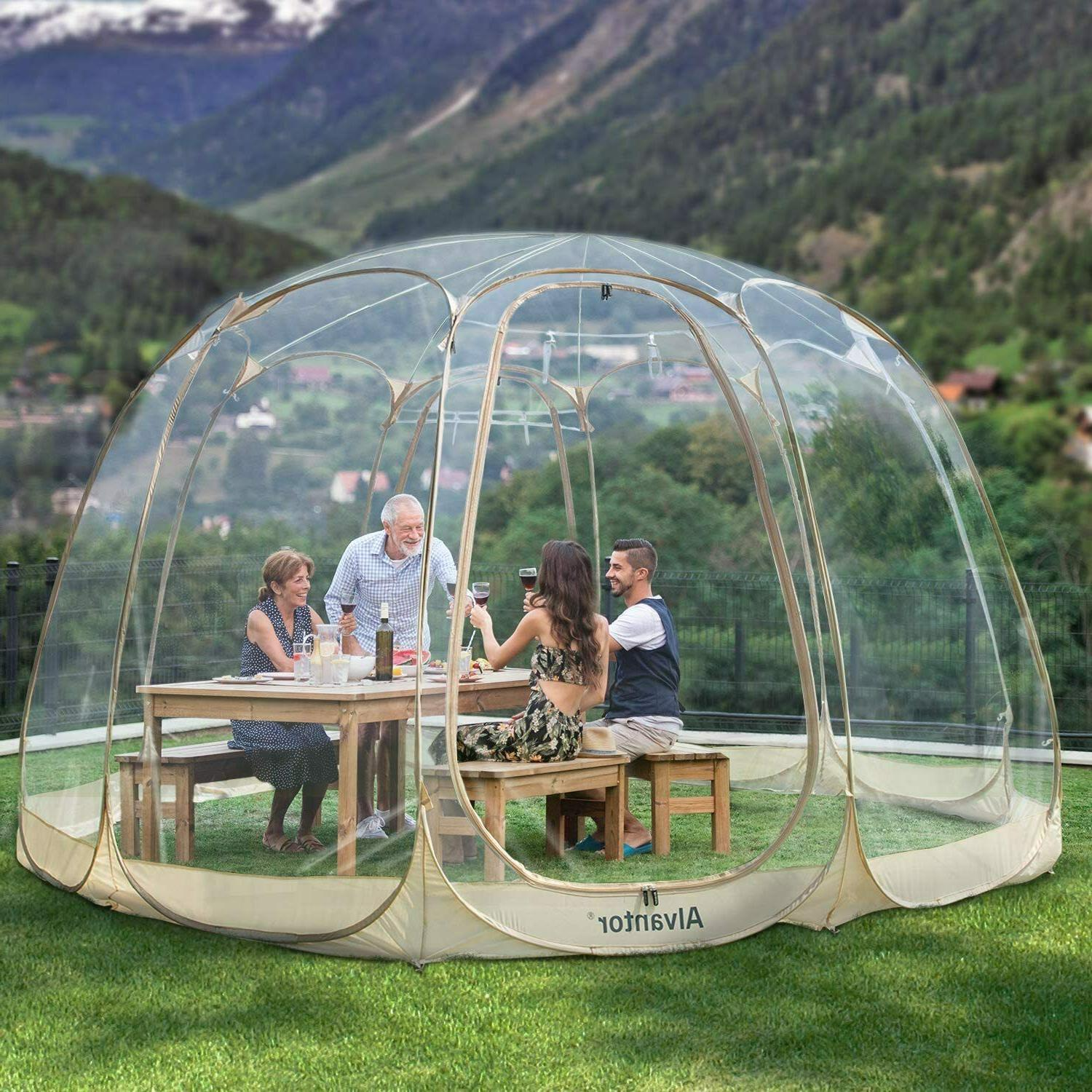 pop up portable bubble tent pvc house