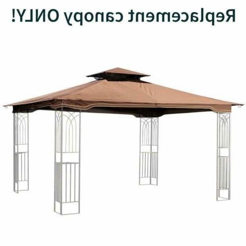 Brown Replacement Gazebo Canopy for 10 x 12 Regency II Patio