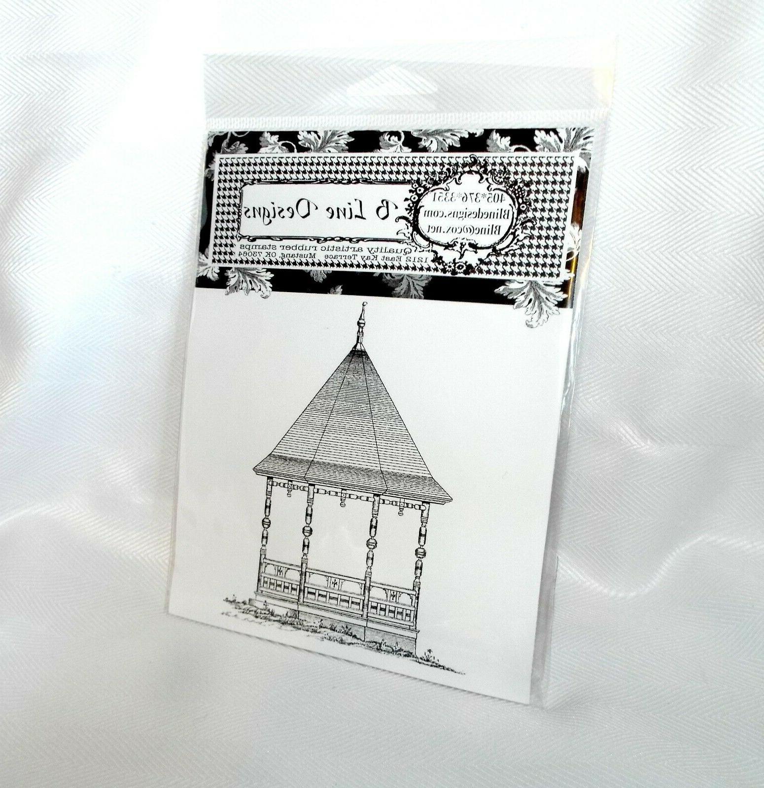 rubber stamps vintage gazebo stamp