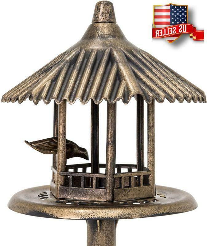 Small Antique Outdoor Top Feeder Garden Pedestal