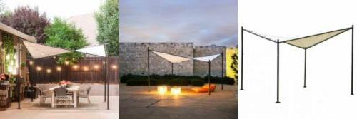 steel polyester fabric square butterfly gazebo 12