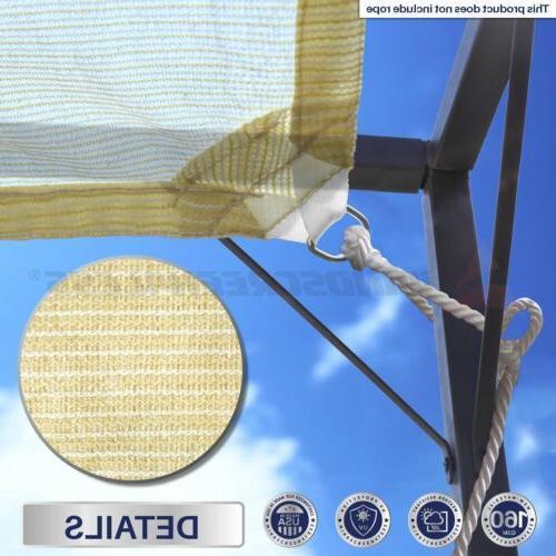 Sun Shade Hemmed Fabric Cloth Canopy 11-16'FT