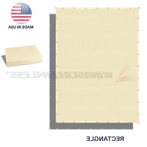 sun shade sail beige hemmed fabric cloth