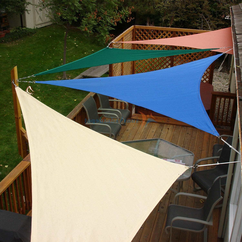 sun shade sail triangle permeable patio pool