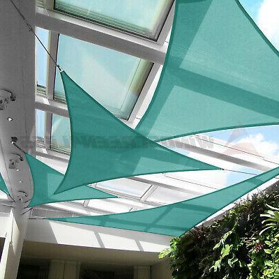 Triangle Sun Turquoise UV Block Outdoor Pool Patio