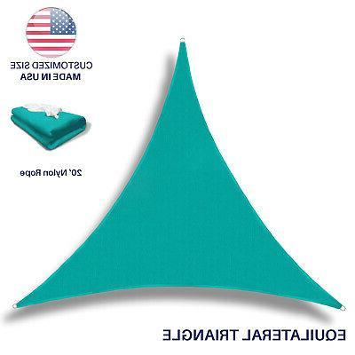 triangle sun shade sail turquoise permeable uv