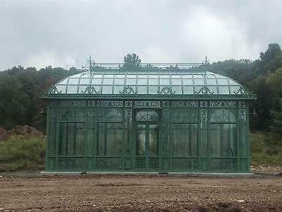 victorian style tubular galvanized estate full glass