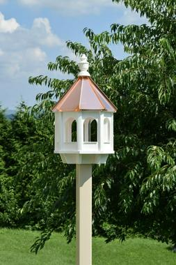 Large Gazebo Bird Feeder All Poly and Copper