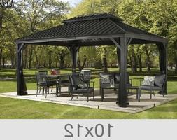 Sojag Messina Steel-Roof Sun Shelter 10 X 12 With Netting, N