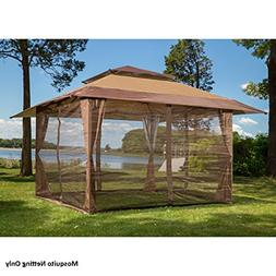 Four Panel Pack of Mosquito Netting For 10 x 10 Gazebo