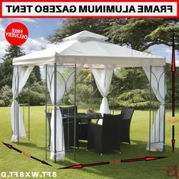 New Gazebo Tent With Mesh Screens & Frame Aluminum 8 Ft X 8