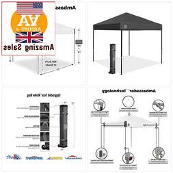 NEW HEAVY DUTY E-Z UP Ambassador Instant Shelter Canopy, 10