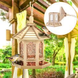New Waterproof Gazebo Hanging Wild Bird Feeder Outdoor Feedi