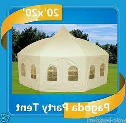 20' x 20' Octagonal Wedding Gazebo Party Tent Canopy Shade