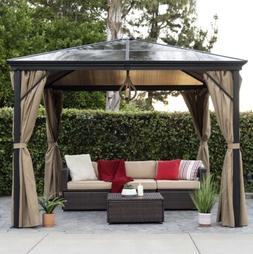 Outdoor Gazebo 10x10ft Side Curtains, Aluminum Hardtop For B