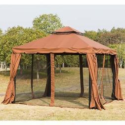 Outsunny 10' x 10' Outdoor Garden Gazebo Sunshade Canopy Bro