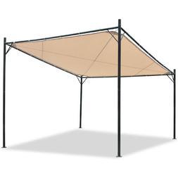 Eurmax Patio Garden Gazebo10x10 Herringbone Canopy with Soft