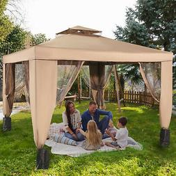 patio gazebo canopy 10x10ft outdoor 2tier tent