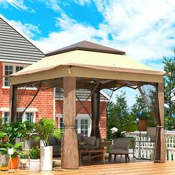 Patio Gazebo Canopy10.8x10.8ft Outdoor 2Tier Tent Shelter Aw