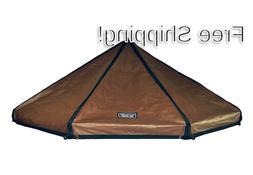 Advantek Pet Gazebo Polyester Replacement Cover 8 foot Brown