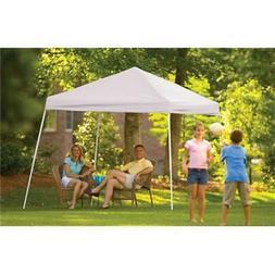 10' x 10' Popup Canopy - Cover Color / Leg Type: White / Sla