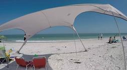 FUNS Portable Stakeless Windproof Beach Sunshade and Gazebo