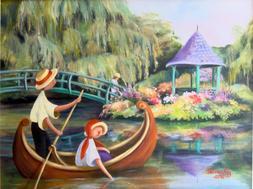Printable Wall Art Print Gazebo Lake Boating Decor Instant D