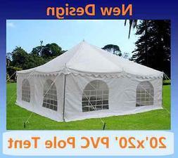 PVC Pole Tent 20'x20' - Party Wedding Tent Canopy Gazebo She