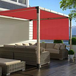 Red 8' 9' Outdoor Pergola Gazebo Sun Shades Sail Patio Steel