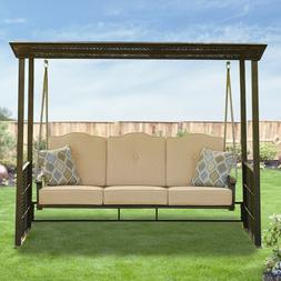 Garden Winds Replacement Canopy for Crowley Gazebo Swing - R