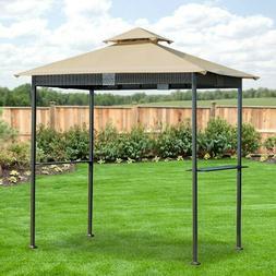Garden Winds Replacement Canopy for Wicker Grill Gazebo - Ri