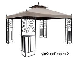 Replacement Canopy Top For 10 x 12 Ft Monterey Gazebo Taupe
