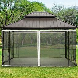 Outsunny Replacement Mosquito Netting for Gazebo 10'x13' Bla