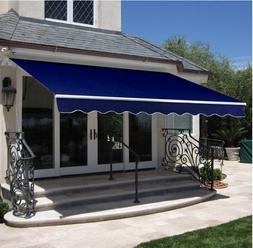 Retractable Awning Canopy Patio Sun Shade Window Door Garden