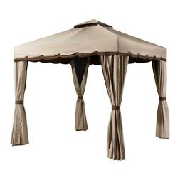 SOJAG Roma Soft Top Gazebo, 10 ft. x 10 ft. Beige with Brown