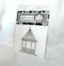 B Line Designs Rubber stamps Vintage Gazebo stamp